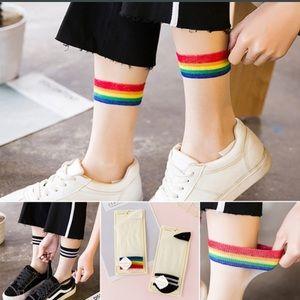🌈 New list! 🌈 Mesh nylon rainbow socks